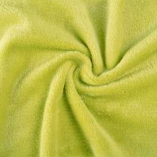 Велсофт (махра) двухсторонний зеленый (желтый шартрез) ш.165 оптом