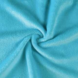Велсофт (махра) двухсторонний голубой (бирюзовый) ш.165 оптом