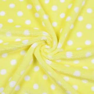 Велсофт односторонній жовтий в білий горох ш.185 оптом
