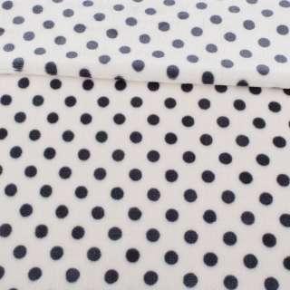 Велсофт односторонний белый в серый горох, ш.180 оптом