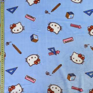 Велсофт двосторонній блакитний, кішечки Кітті, ш.185 оптом