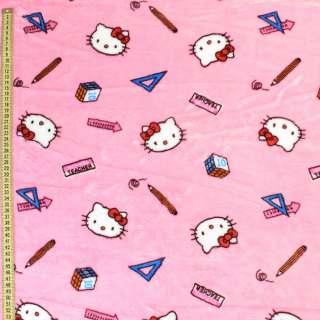 Велсофт розовый светлый, кошечки Китти, ш.185 оптом