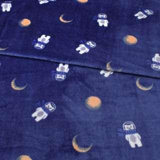 Велсофт двухсторонний синий, мишки в космосе, ш.185 оптом