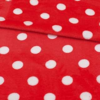 Велсофт двосторонній червоний в білий горох ш.185 оптом