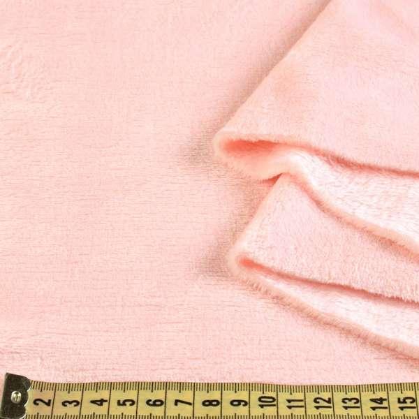 Велсофт двухсторонний розовый чайная роза, ш.185 оптом
