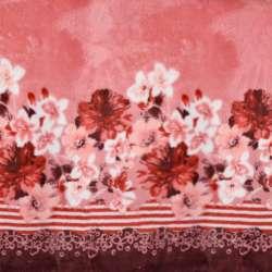 Велсофт двосторонній рожевий, облямівка квіти, 2ст.купон, ш.188