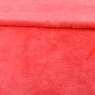 Велсофт двухсторонний коралловый яркий, ш.180 оптом