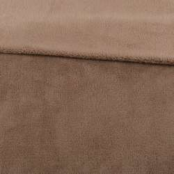Велсофт двухсторонний бежево-коричневый, ш.180