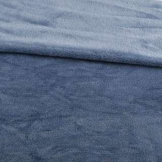 Велсофт двосторонній синьо-сірий, ш.175 оптом
