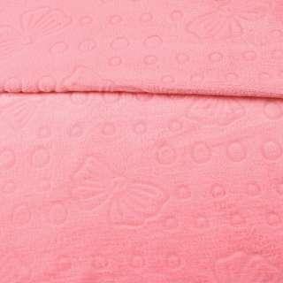 Велсофт двосторонній з тисненням бантики рожевий, ш.200 оптом