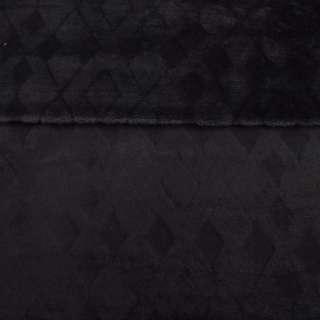 Велсофт двухсторонний черный с тиснением ромбы, ш.220 оптом