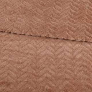 Велсофт двосторонній з тисненням ялинка коричневий світлий ш.200 оптом