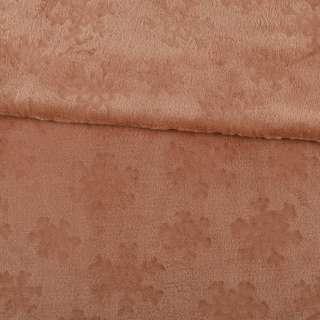 Велсофт двосторонній з тисненням сніжинки коричневий світлий ш.200 оптом