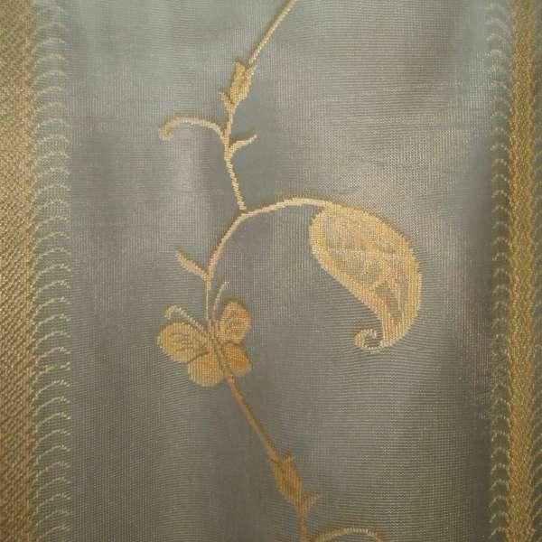 Гардина  тюль  оливковая  с  золотой  выш. оптом