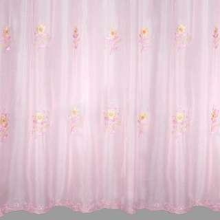 Вуаль вышитая  розовая оптом