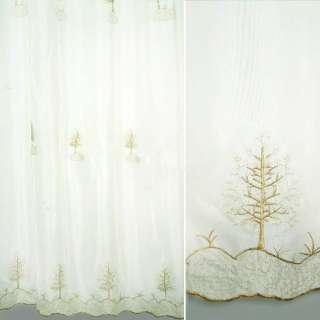 Вуаль белая с вышивкой люрексом ш.280 оптом