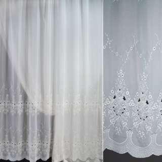 Вуаль белая с вышивкой ш.275 оптом