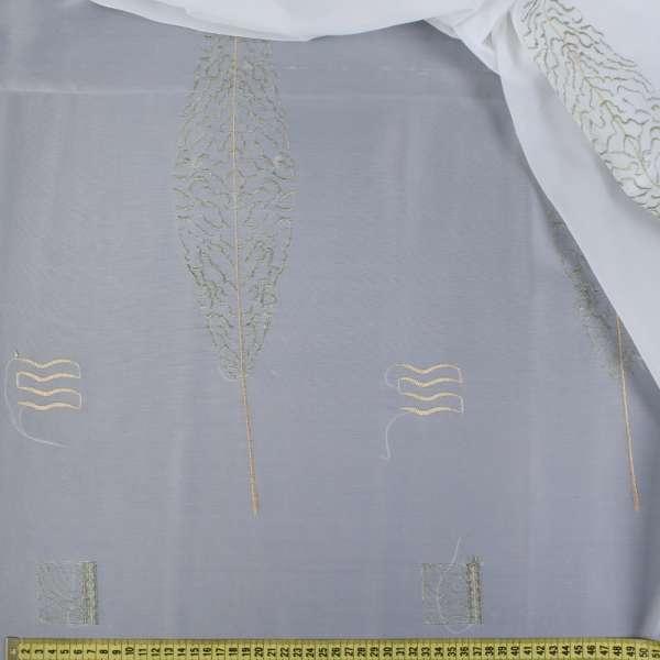 Вуаль  белая  с  вышивкой  болот.  дерево оптом
