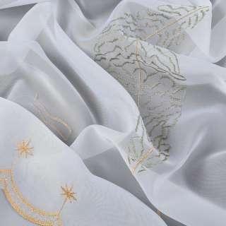 Вуаль белая с болотной вышивкой дерево оптом