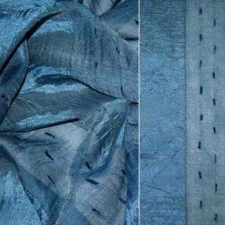 вуаль креш грязно-синяя с атлас.полосой и шинил.нитью оптом