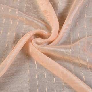 вуаль креш персиковая с атл.полосой и шинил.нитью оптом