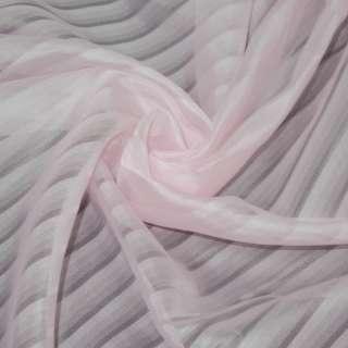 вуаль розовая в полоску ш.275 оптом