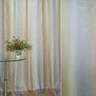 """Вуаль бежево-червоно-фіолетова """"веселка"""" з лазерним малюнком ш.280 оптом"""