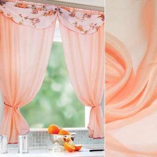 вуаль гладкая персиковая с роз. отлив. ш.280 оптом