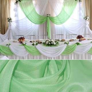 вуаль гладкая бледно-зеленая ш.280 оптом