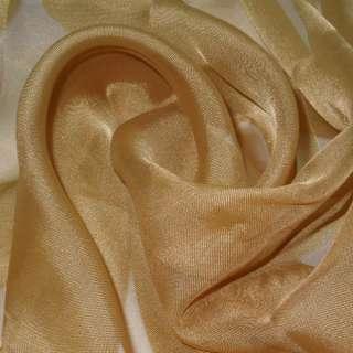 вуаль гладкая коричнево-желтая ш.280 оптом