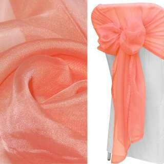 вуаль гладкая кораллово-розовая ш.280 оптом