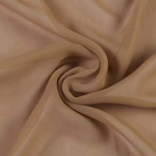 Креп гардини коричневий світлий, ш.280 оптом
