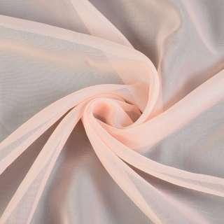 вуаль гладкая персиковая с розовым оттенком ш.280 оптом
