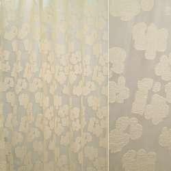 Органза бежевая в атласные бежевые цветы ш.250 оптом