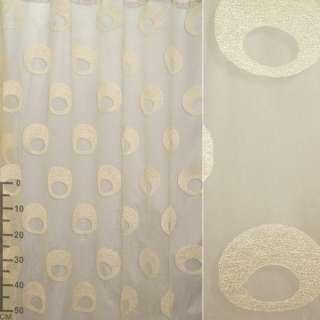 органза-орари бледно-желтая с овалами ш.280 оптом