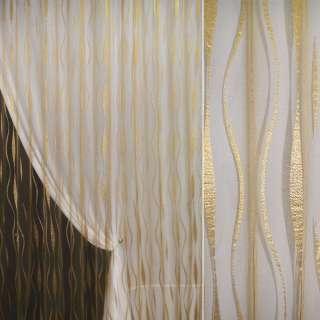 органза-орари т/золото с вьющ.полосами ш.280 оптом