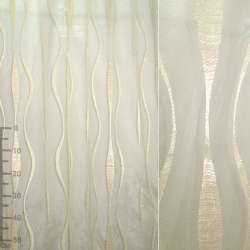 Органза орари золотистая светлая с вьющимися полосами ш.280 оптом