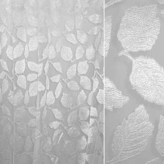 органза-орари белая с большими листьями ш.280 оптом