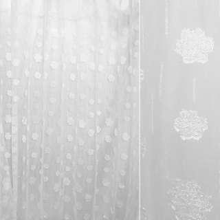 """органза """"орари"""" белая с атласным цветком ш.280 оптом"""