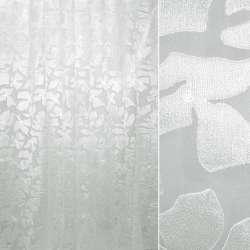 Органза орари белая в белые атласные банты ш.280