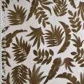 Органза деворе коричневая в листья ш.280 оптом
