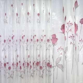 кристаллон белый с красными цветами ш.270 оптом
