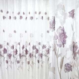кристаллон белый с фиолетовыми цветами ш.270 оптом