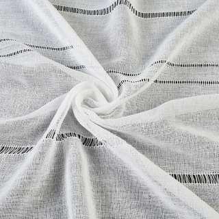 Лен гардинный белый с мережкой, ш.280 оптом