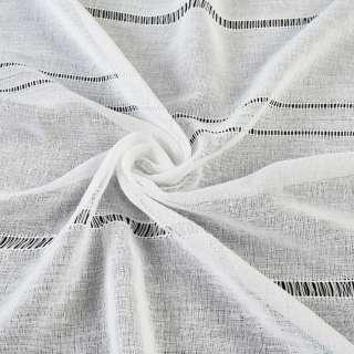 Лен гардинный с мережкой белый, ш.300 оптом
