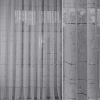 Лен гардинный с мережкой серый светлый, ш.300 оптом