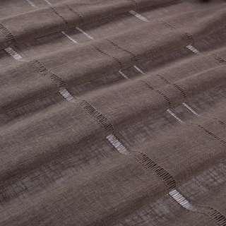 Лен гардинный с мережкой коричневый темный, ш.300 оптом