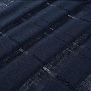 Лен гардинный с мережкой синий темный, ш.300 оптом