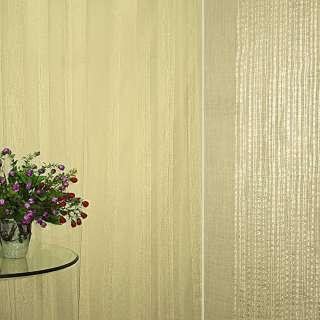 Лен французский бежево-золотистый с узкими атласными полосками ш.275 оптом