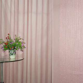 Лен французский розово-серый с узкими атласными полосками ш.275 оптом